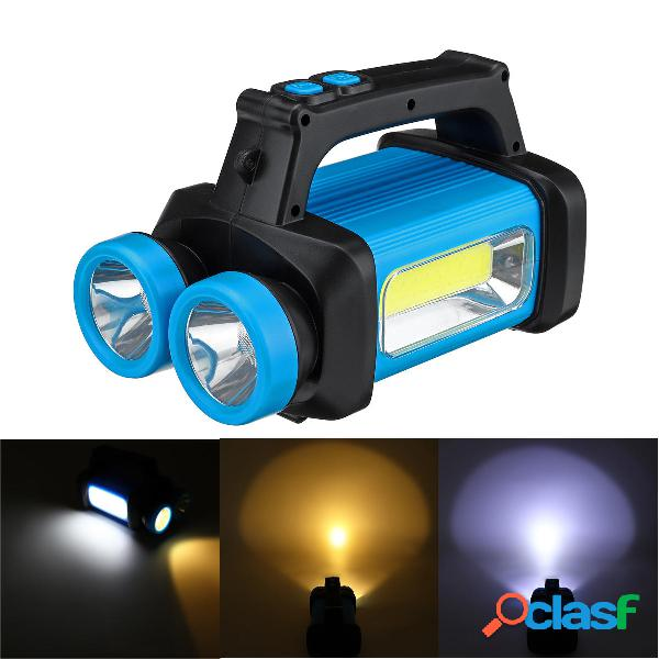 Ricaricabile / Batteria Power COB LED Proiettore USB