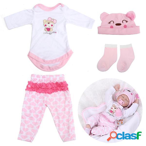 Rosa Set di vestiti per bambola per bambola di nuotata