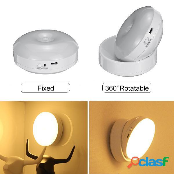 Rotazione a 360 gradi LED Sensore di movimento Luce notturna