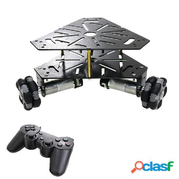 Ruote Omni a doppio strato 3WD remoto Kit chassis per auto