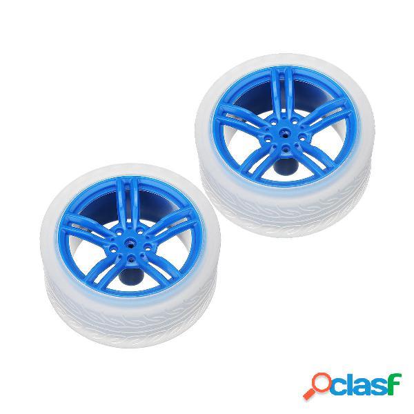 Ruote in gomma blu 2Pcs 65 * 27mm per accessori per auto con