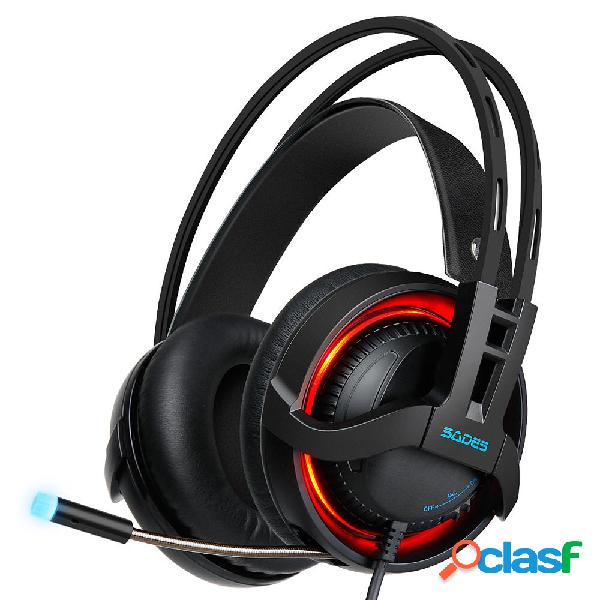SADES R2 Cavo audio stereo 7.1 canali cablato USB luce a led