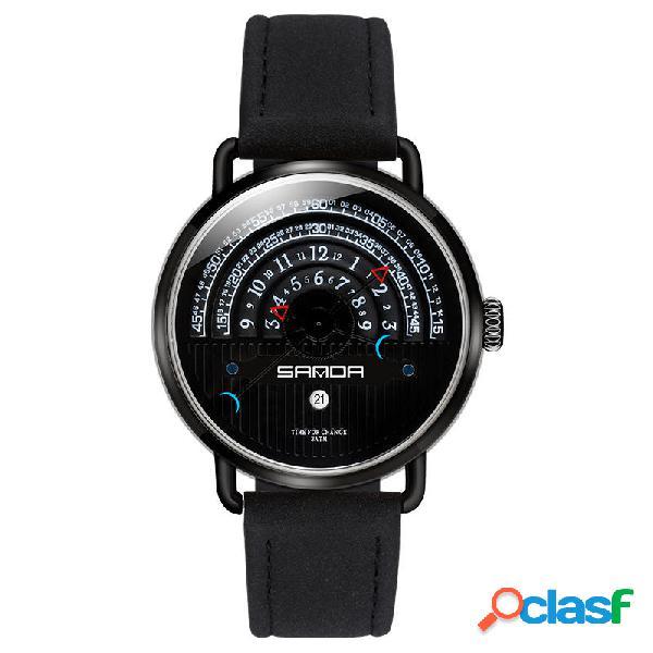 SANDA P1030 Fashion Date Display Orologio al quarzo con