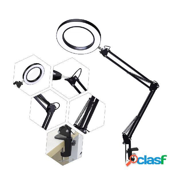 Scrivania flessibile Grande 22 cm + 22 cm 5X USB LED Lente