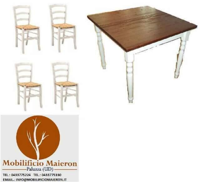 Set Cod102 Sedie e Tavoli Arredamento Ristorante Bar Shabby
