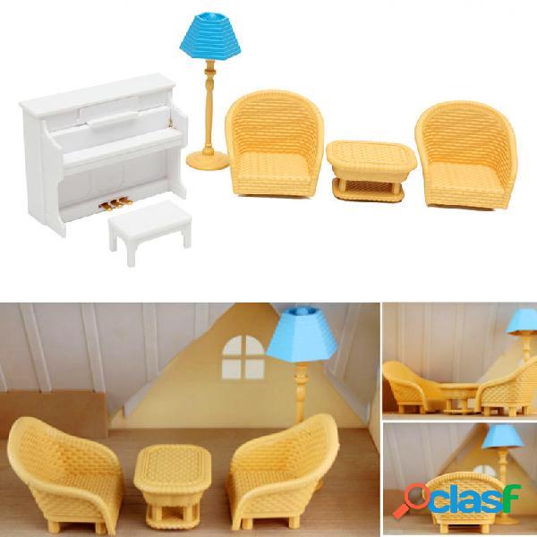 Set di mobili in miniatura da tavolo per pianoforte per