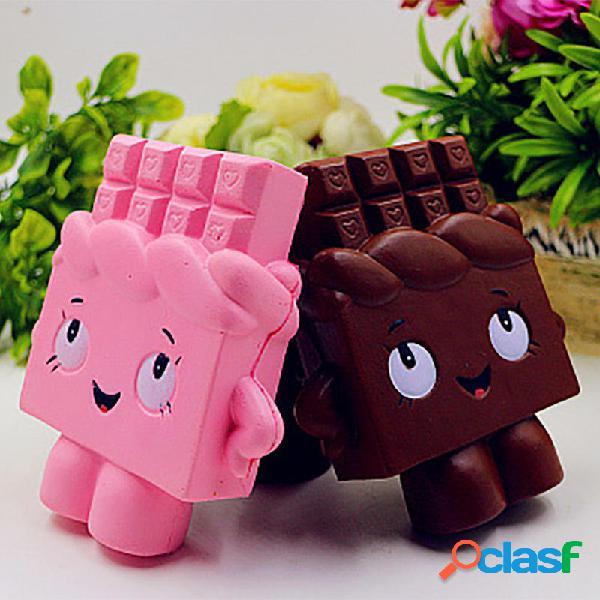 Simulazione PU del giocattolo umano al cioccolato Squishy -