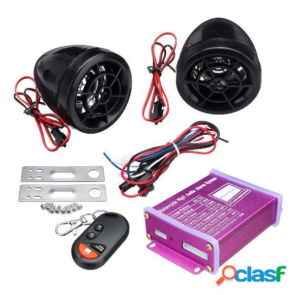 Sistema di allarme antifurto per moto 12V MP3 FM SD USB