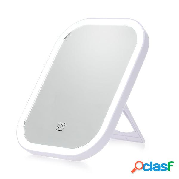 Smart LED Touch Screen Trucco Specchio da tavolo portatile