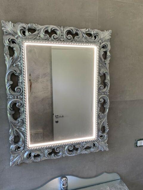 Specchio specchiera barocco illuminata led