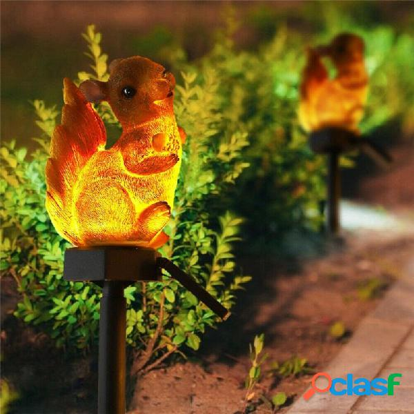 Squirrel solare Lawn lampada Garden Decor Light Outdoor