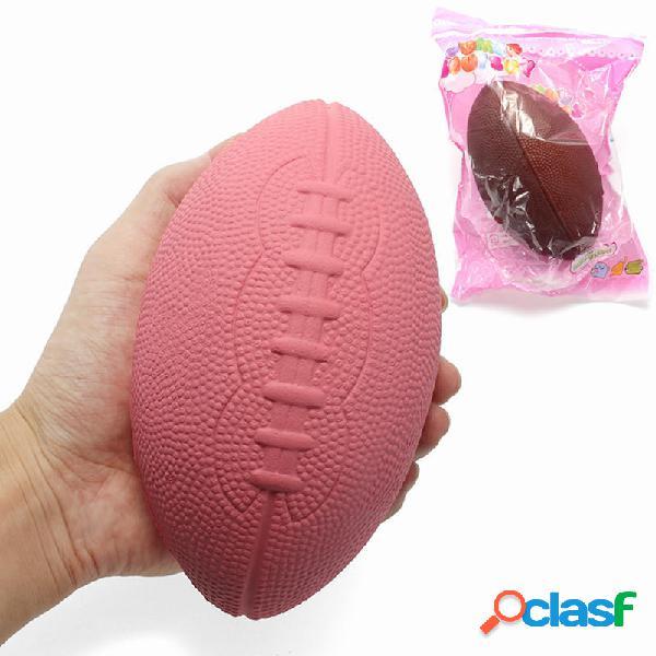 Squishy Calcio Rugby Jumbo 15cm Soft Giocattolo decorazione