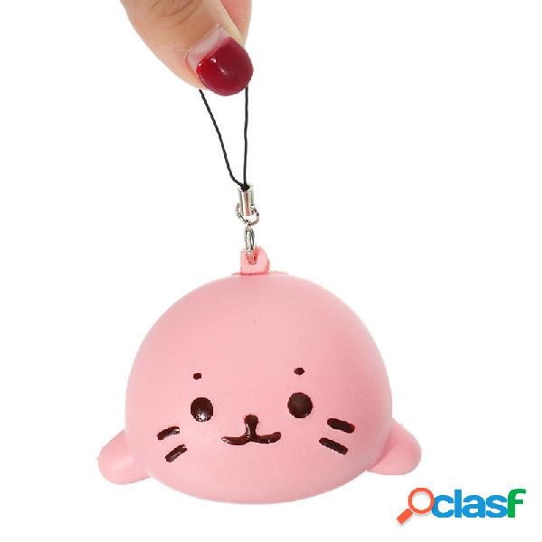 Squishy Seals Slow Rising 7cm Cute Soft Squishy con catena