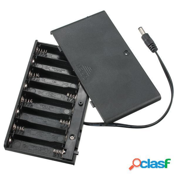 Supporto 3pcs DIY 12V 8 x AA Batteria Scatola caso con