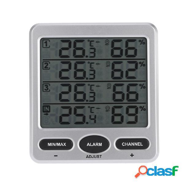 TS-WS-10 LCD Igrometro digitale Termometro con 3 remoto