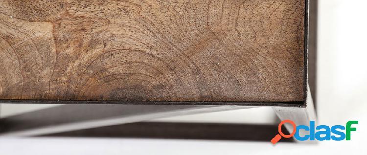 Tavolino stile industriale in legno e metallo ATELIER