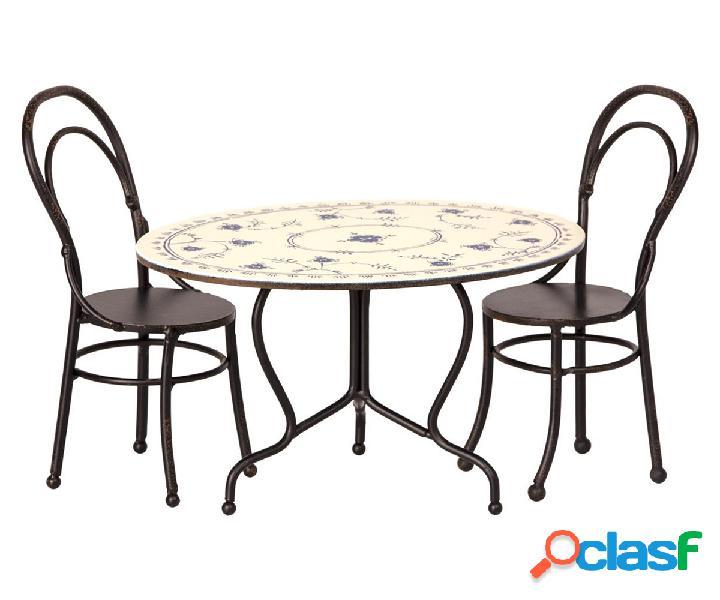 Tavolo Ovale e Sedie Misura Maileg Mini