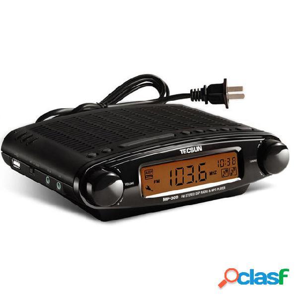 Tecsun MP-300 Orologio DSP stereo FM ATS Radio Supporto