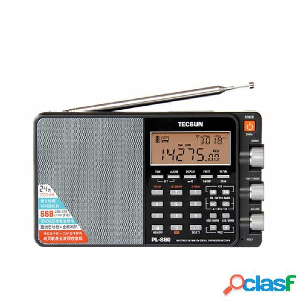 Tecsun PL-880 Stereo portatile completo Banda Radio