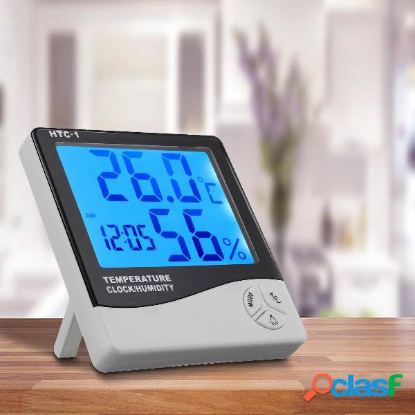 Termoigrometro digitale per interni LCD Sveglia