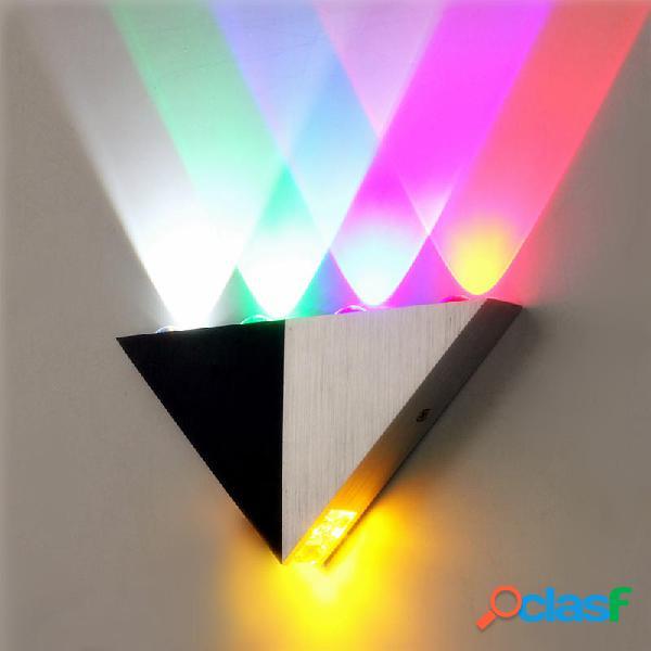 Triangolo multicolore 5W LED lampada da parete sconce su e