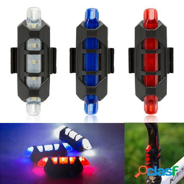 USB Ricaricabile per bicicletta LED Fanale posteriore per