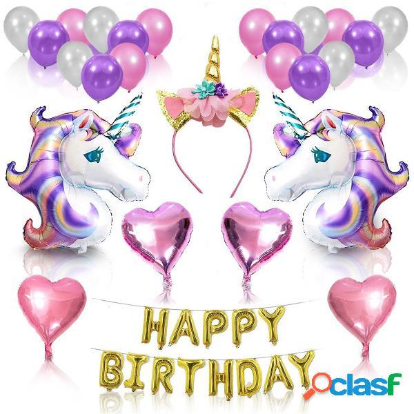 Unicorn Balloons Set Forniture per feste di compleanno per