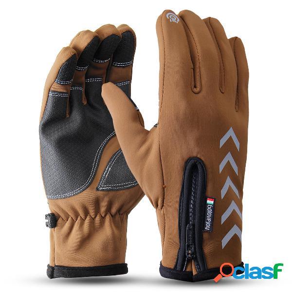 Uomo Sport Guanti Winter Warm Thermal Guanti Touchscreen