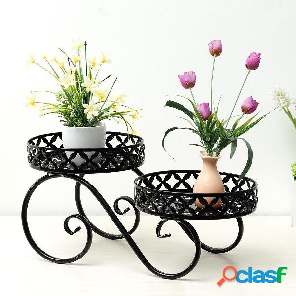 Vaso per fiori in ferro battuto, piano alto e basso,