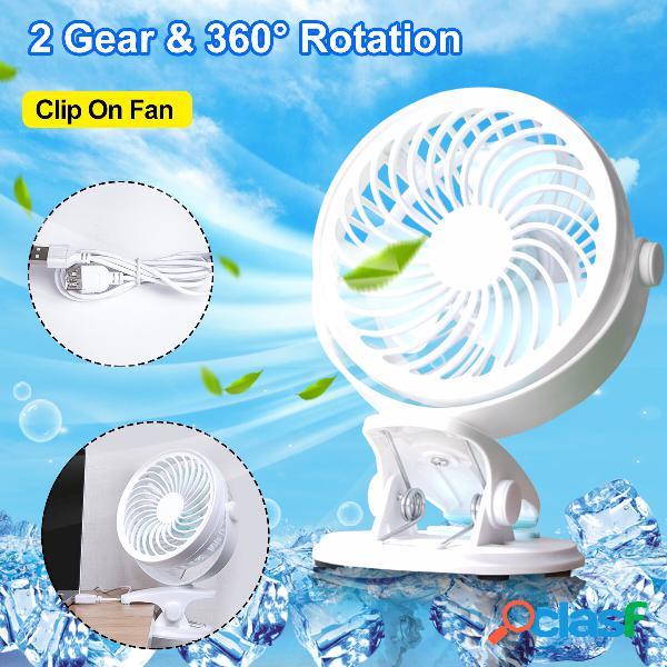Ventilatore portatile ricaricabile a 360 ° con clip di