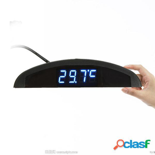 Voltmetro automatico digitale a LED per orologio Termometro