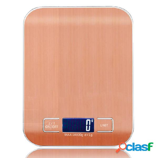WeiHeng 10kg 1g acciaio inossidabile digitale Scala bilancia