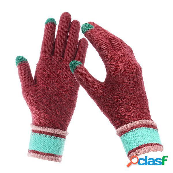 Women Winter Warm Full-finger Guanti Guanti sportivi da
