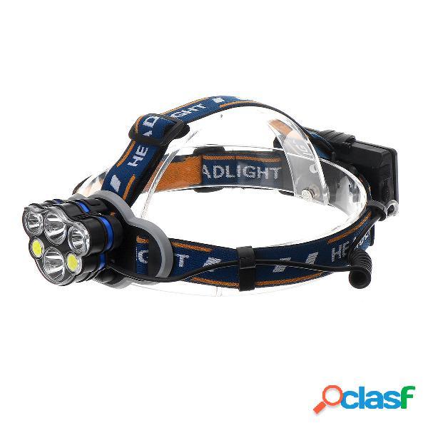 XANES® 5 LED / 6 LED / 8 LED Lampada frontale 8 modalità