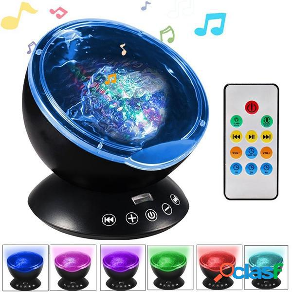 remoto Control Ocean Wave proiettore 12 LED Colorful Stage