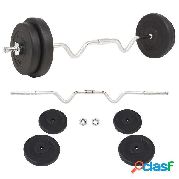 vidaXL Set per Bilanciere da 30 kg