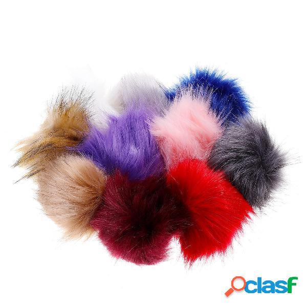 10 Pz / set 12 CM / 4.72 Pollici Faux Fox Fur Fluff Balls