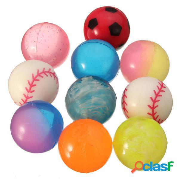 10Pcs Bouncy Jet Balls giocattolo per bambini diametro 27mm
