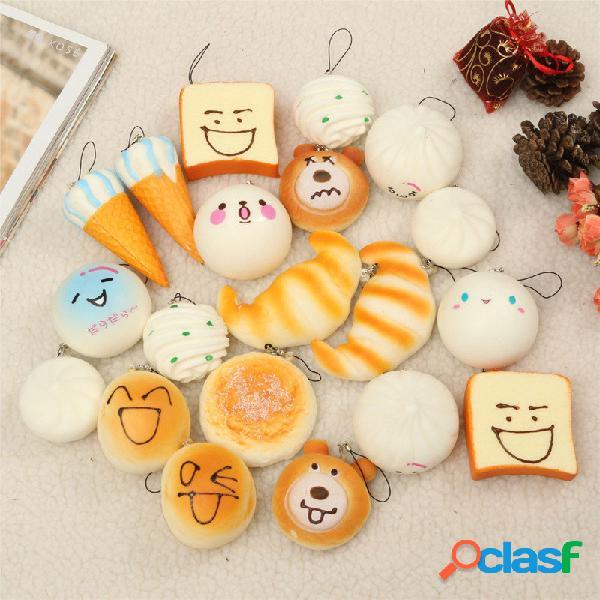 10pcs giocattolo squishy panda / pane / torta / panini /