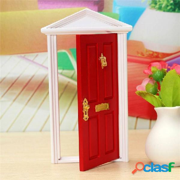 1/12 casa delle bambole in miniatura porta fata in legno
