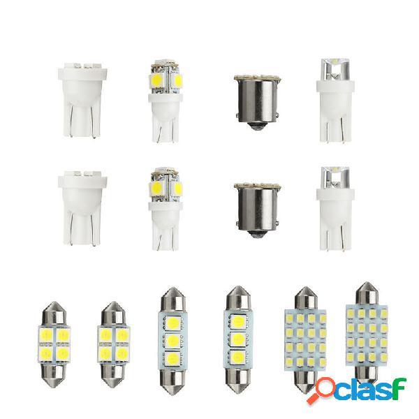 14PCS LED Kit luci interne T10 1157 36mm Festone Dome
