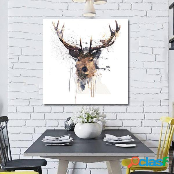 16 Cervo Cervo Astratta Immagine Stampata Quadri Dipinti