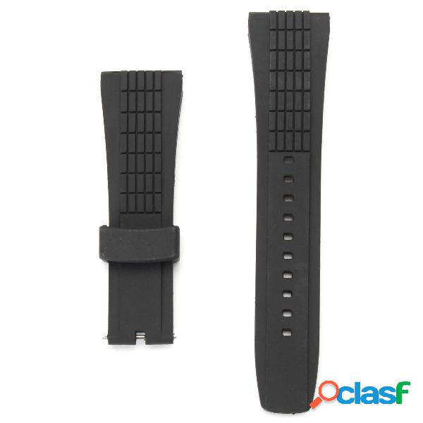 20-26mm Silicone Orologio nero Banda Cinturino per orologio