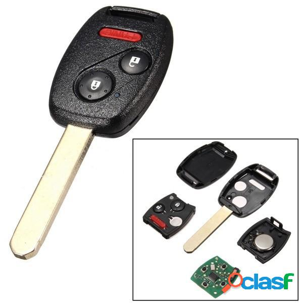 3 tasti uncut trasmettitore remoto auto chiave keyless entry