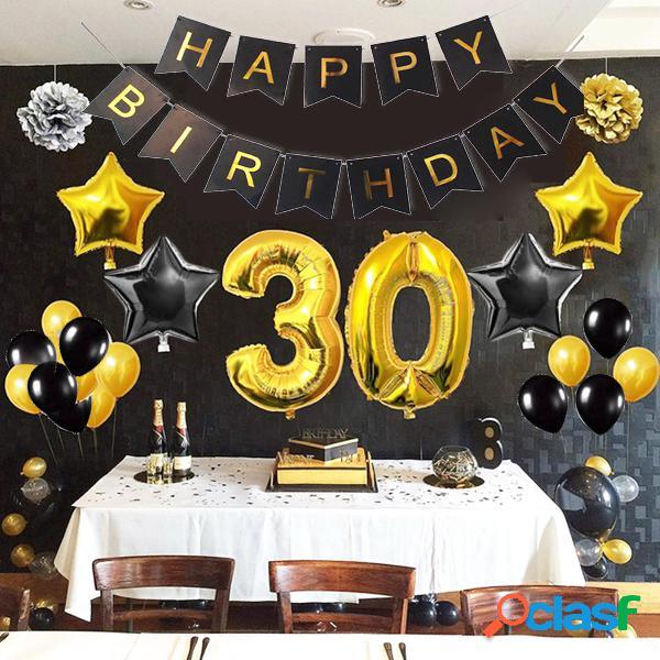 30/1/40/50/60/70/80 Palloncini foil per banner compleanno