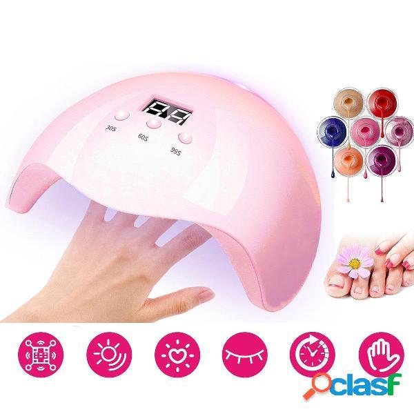 36W Rosa Chiodo macchina per fototerapia UV LED asciugatrice