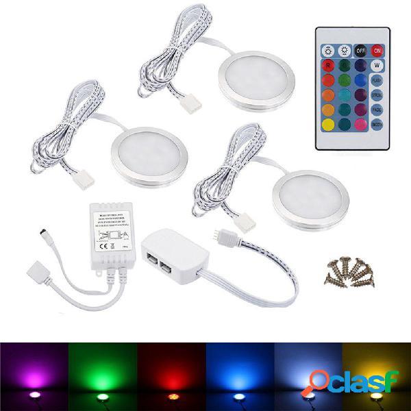 3PCS RV RGB LED Plafoniera per auto Dome Illuminazione