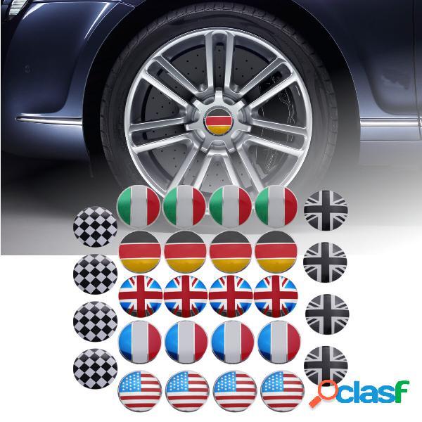 4 x 56 mm in lega 3D per auto ruota centrale mozzo cappuccio