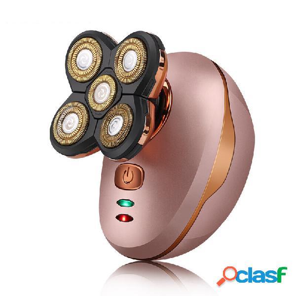 5 in 1 testa calva elettrica Rasoio rasoio ricaricabile USB