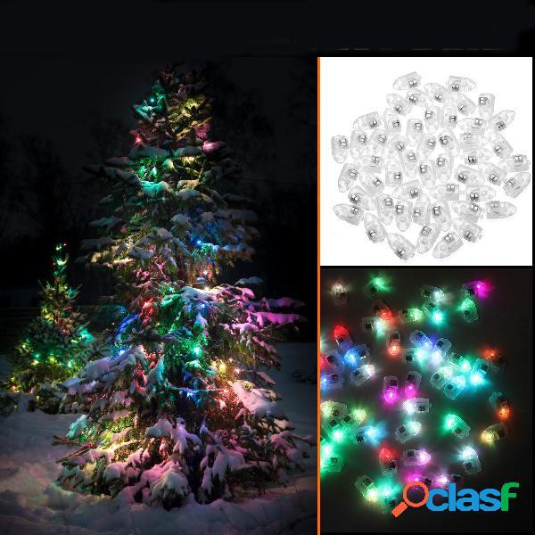50PCS Mini White Coloful LED Ball Holiday Light per la festa